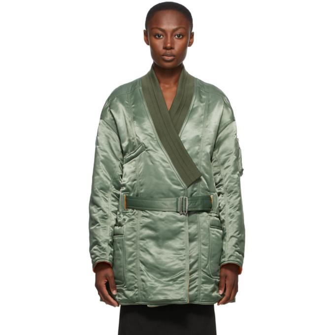 Photo: Ambush Green Kimono MA-1 Hybrid Coat