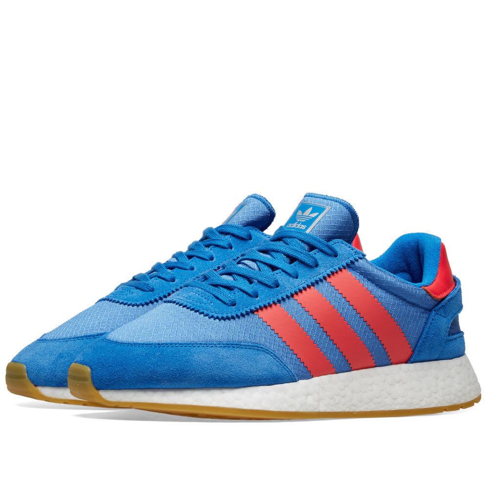 Photo: Adidas I-5923 True Blue, Shock Red & Gum
