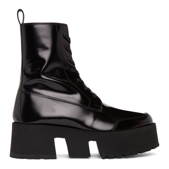 Photo: Enfants Riches Deprimes Black Leather Les Stompeurs Boots