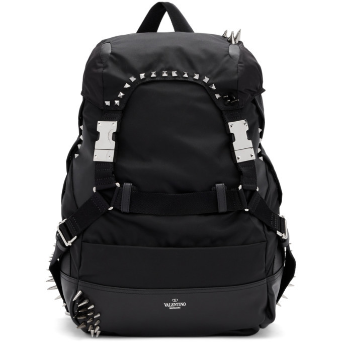 Photo: Valentino Black Valentino Garavani Bounce Backpack