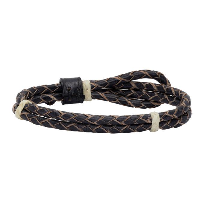 RRL Black Leather Cuff