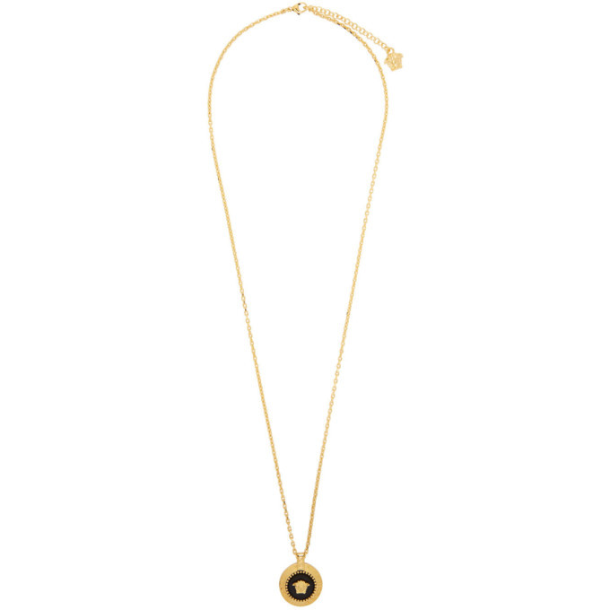 Photo: Versace Gold Round Medusa Pendant Necklace