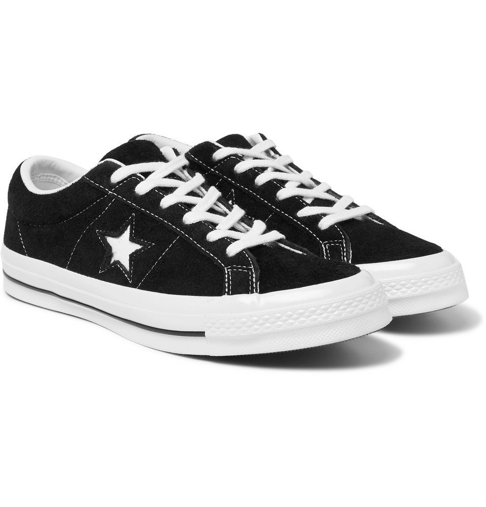 Photo: Converse - One Star OX Suede Sneakers - Black