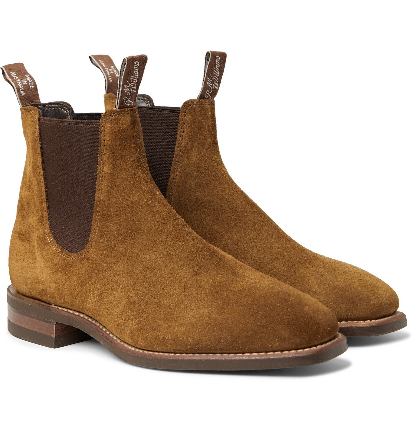 Photo: R.M.Williams - Comfort Craftsman Suede Chelsea Boots - Brown