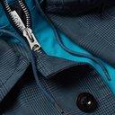 Sacai - Layered Checked Wool-Blend and Shell Coat - Men - Navy