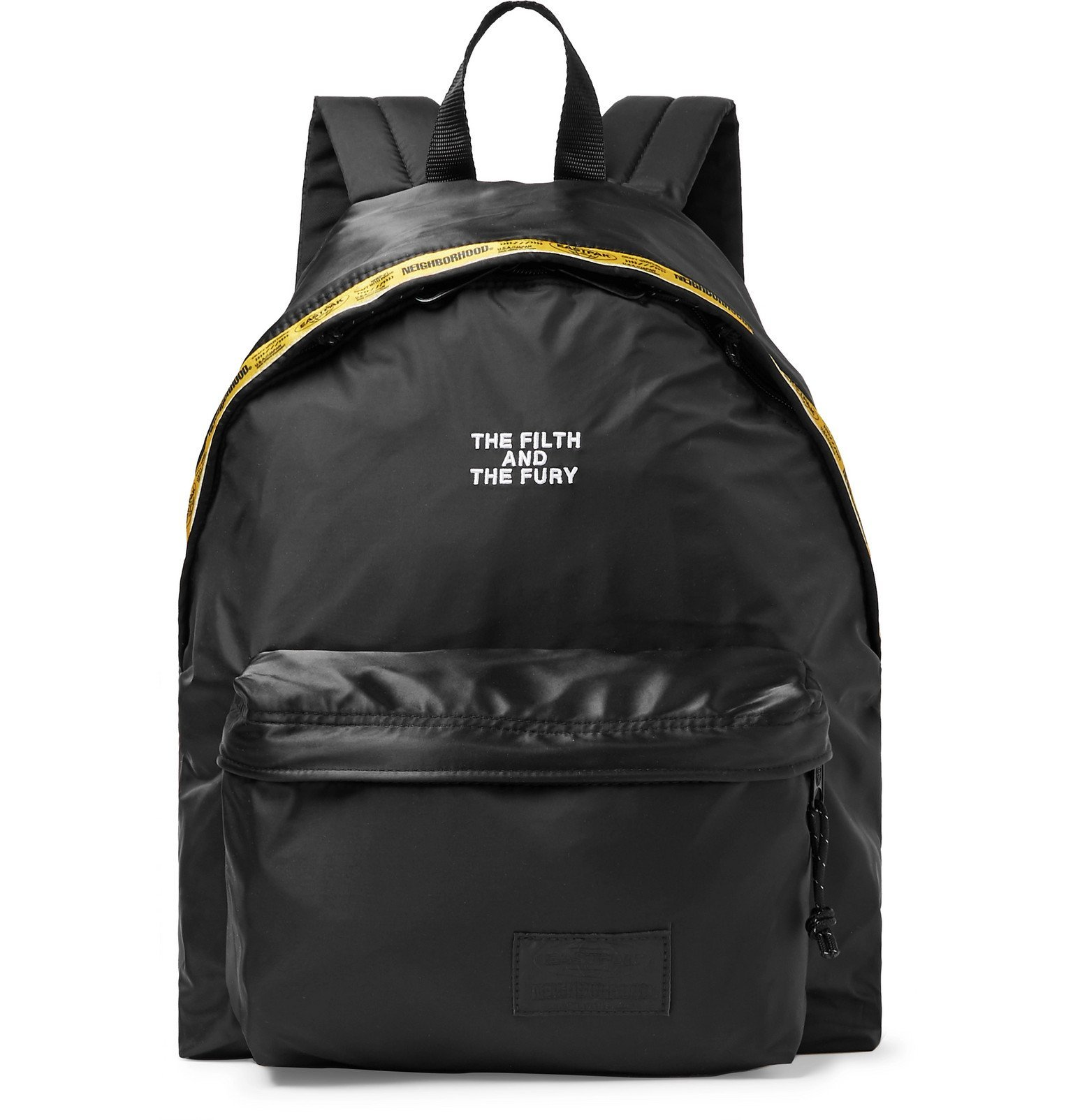 Photo: Neighborhood - Eastpak Padded Pak'r Logo-Detailed Satin and Nylon Backpack - Black