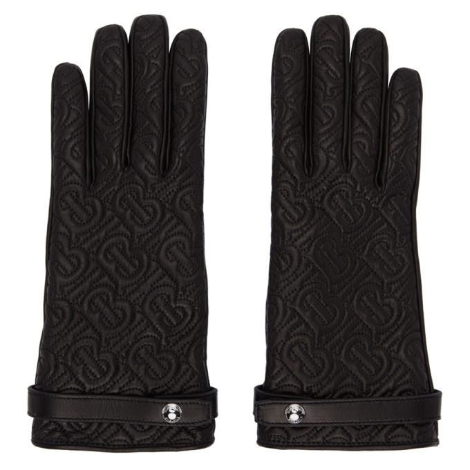 Photo: Burberry Black Quilted Monogram Gloves