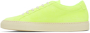 Common Projects Yellow Nubuck Achilles Low Sneakers