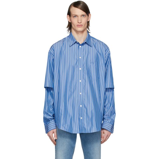 Photo: Balenciaga Blue and White BB Shirt
