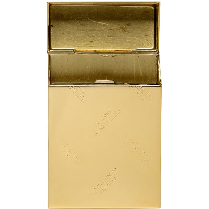 Vetements Gold Monogram Cigarette Case
