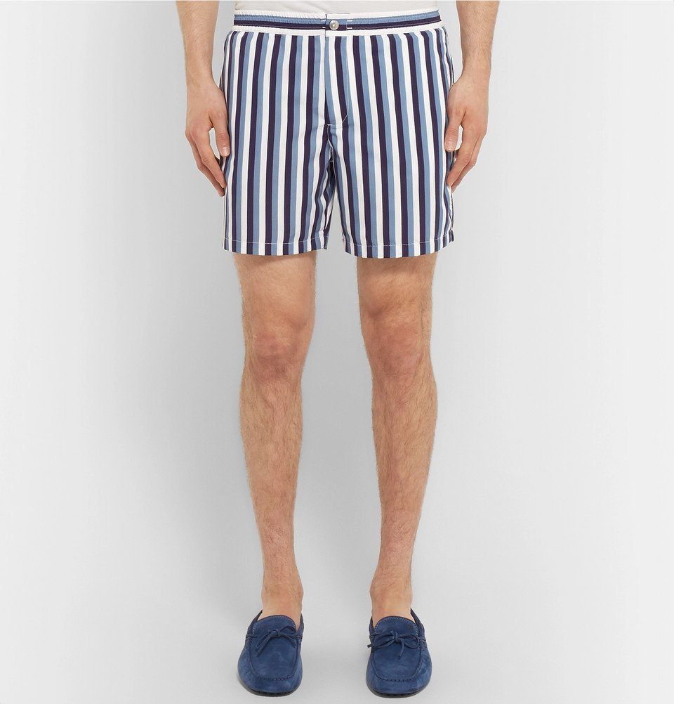 Tod's - Short-Length Striped Swim Shorts - Men - Navy