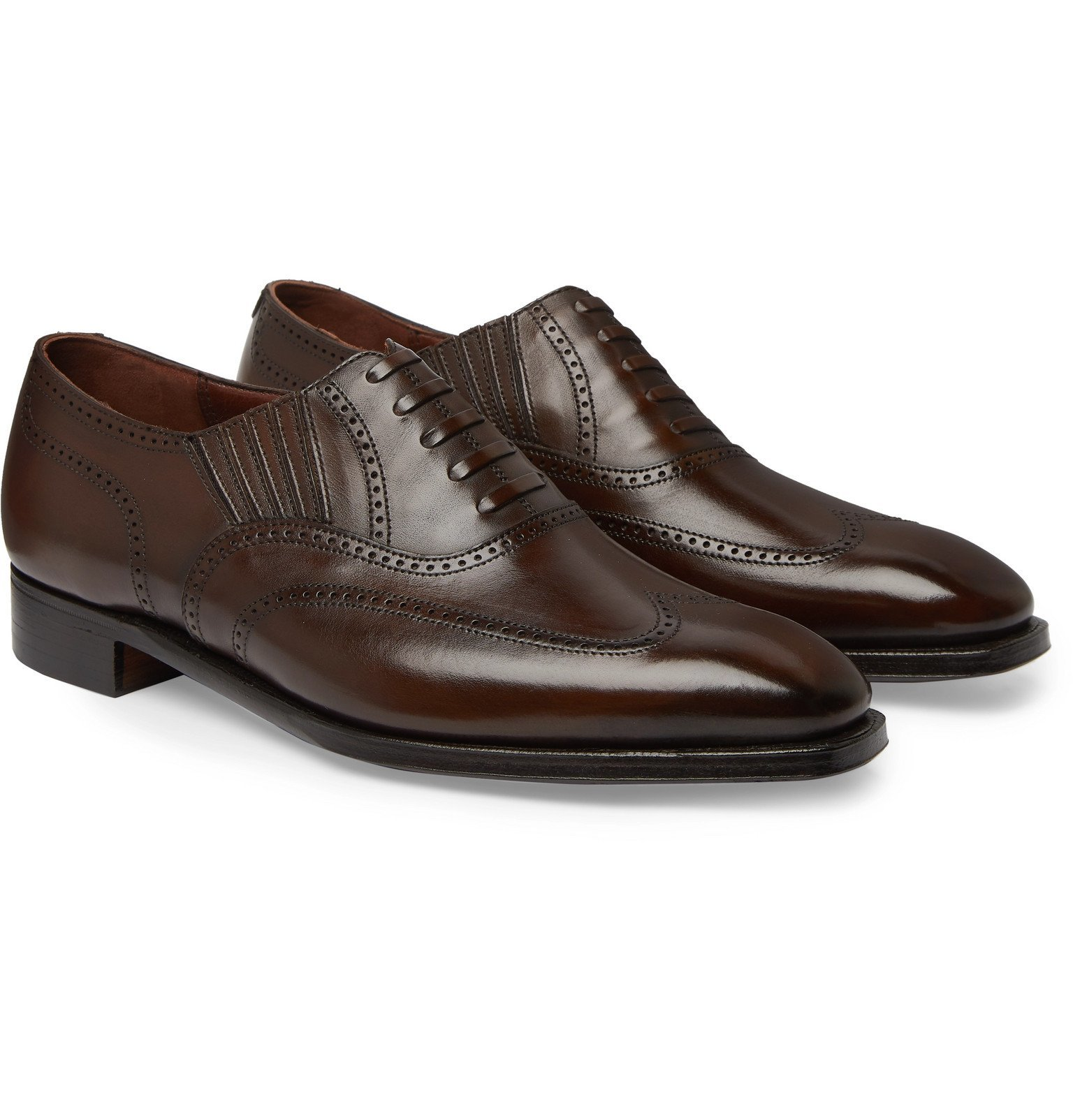 Photo: George Cleverley - Winston Leather Oxford Brogues - Brown
