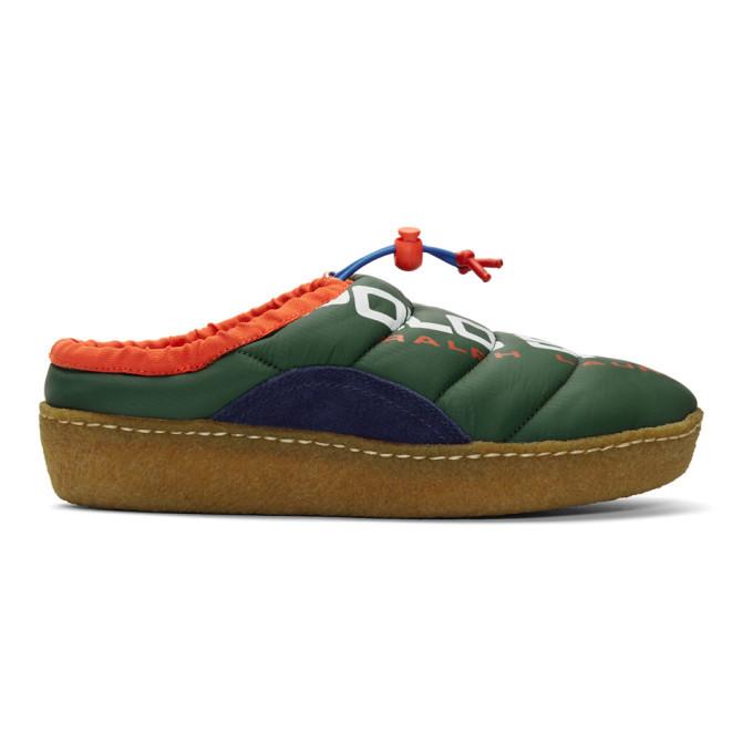 Photo: Polo Ralph Lauren Green Polo Sport Myles Puffer Loafers