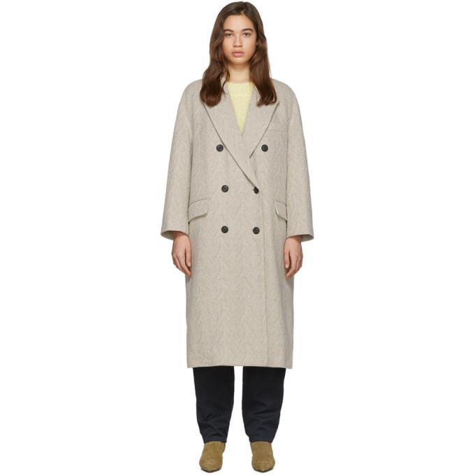 Photo: Isabel Marant Etoile Off-White Wool Ojima Coat