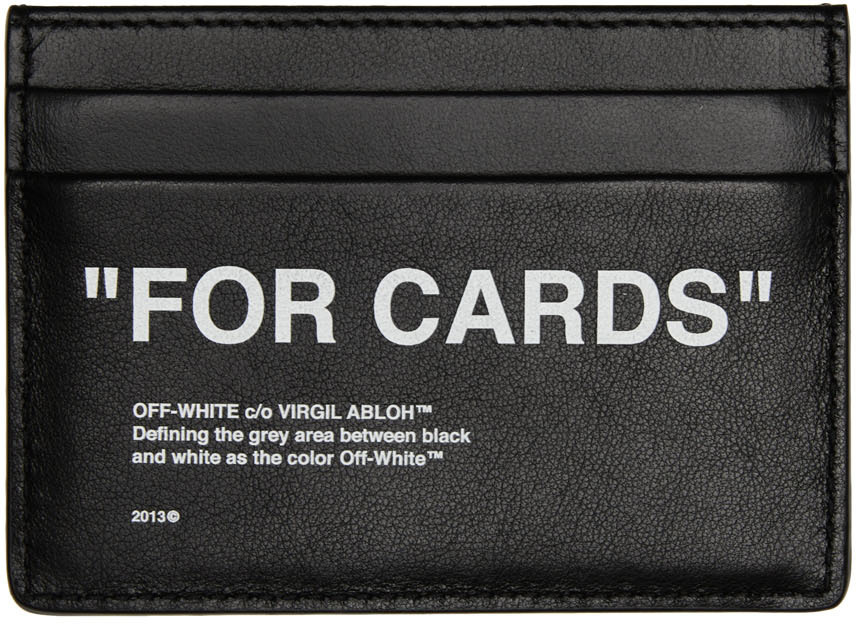 Photo: Off-White Black Quote Card Holder