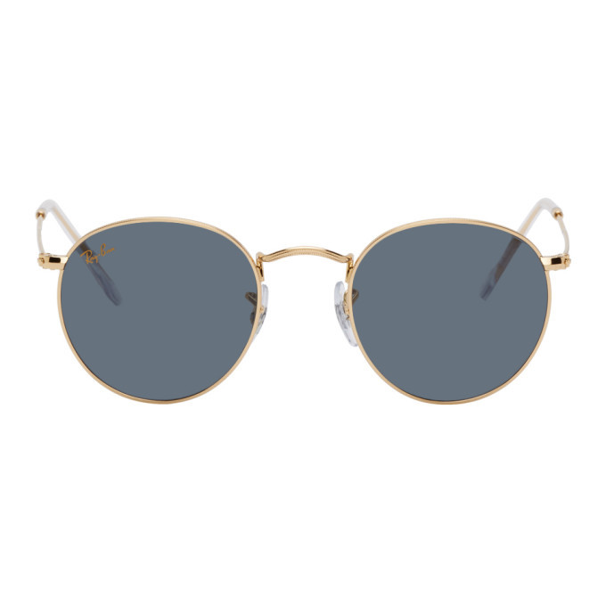 Photo: Ray-Ban Gold and Green Round Metal Sunglasses