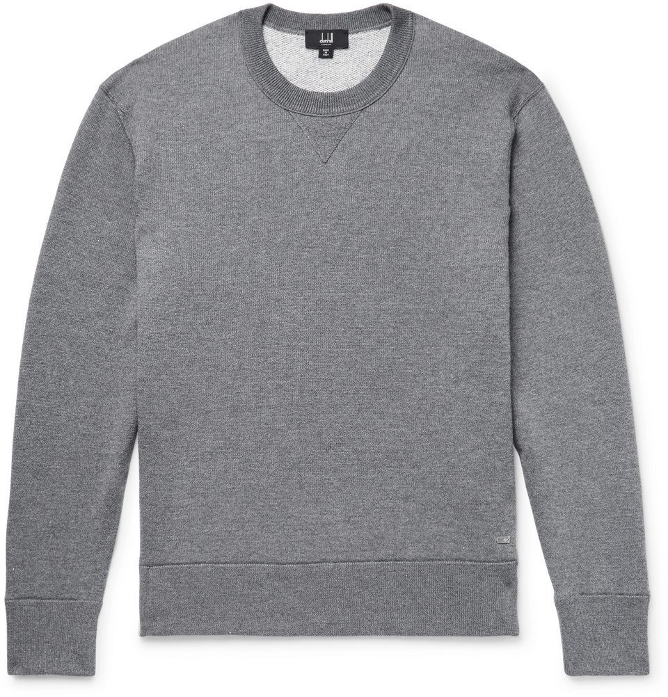 Dunhill - Loopback Wool and Cashmere-Blend Sweatshirt - Men - Anthracite
