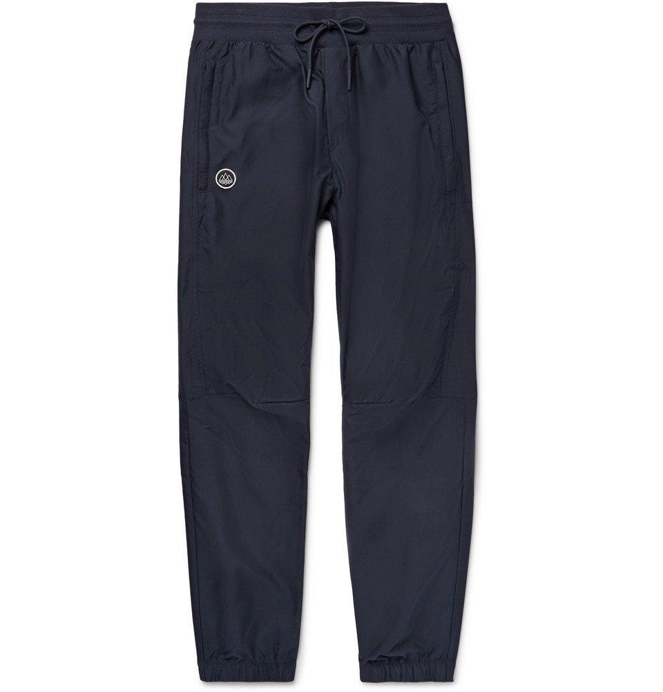 Photo: adidas Consortium - SPEZIAL McAdam Tapered Tech-Jersey Track Pants - Storm blue