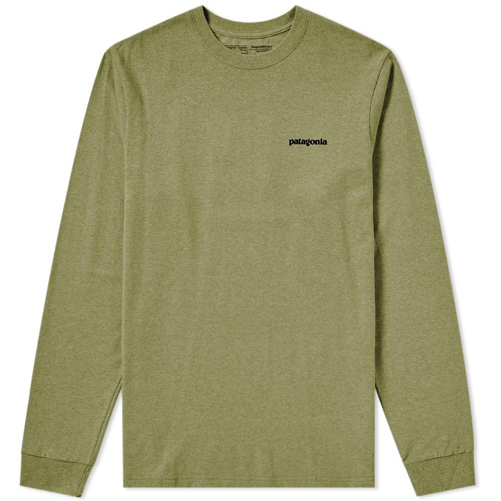 Photo: Patagonia Long Sleeve P-6 Logo Responsibili-Tee