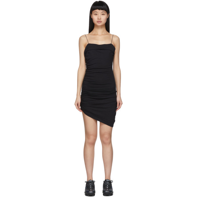 Photo: alexanderwang.t Black Compact Jersey Mini Dress