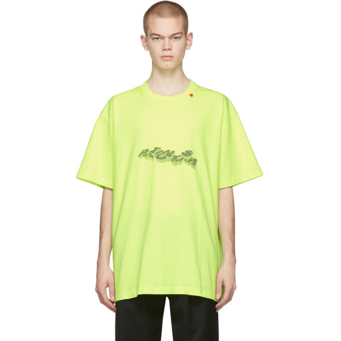 Photo: Off-White Yellow 3D Pencil T-Shirt
