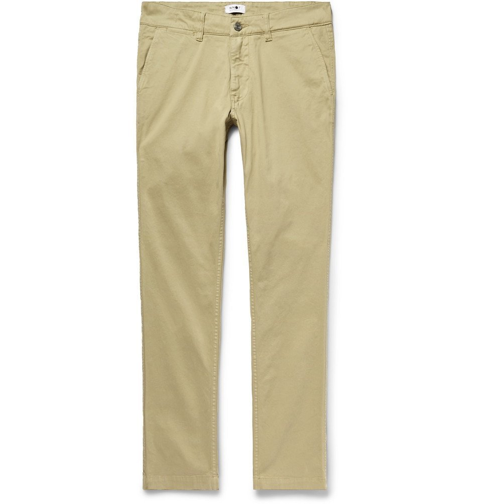 Photo: NN07 - Marco Slim-Fit Garment-Dyed Stretch-Cotton Twill Chinos - Sand