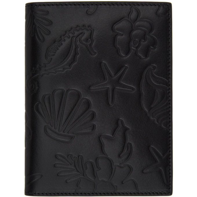 Photo: Thom Browne Black Embossed Sea Icon Passport Holder
