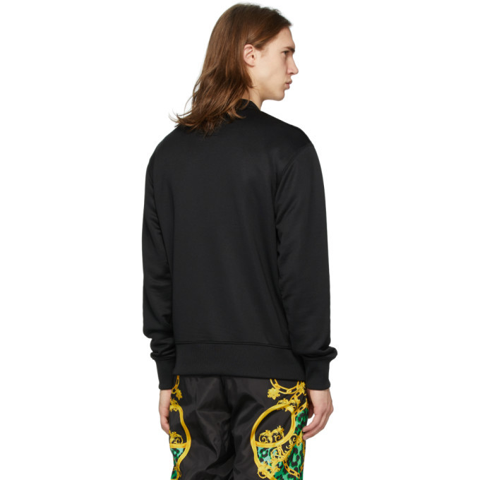 Versace Jeans Couture Black Embroidered Logo Sweatshirt