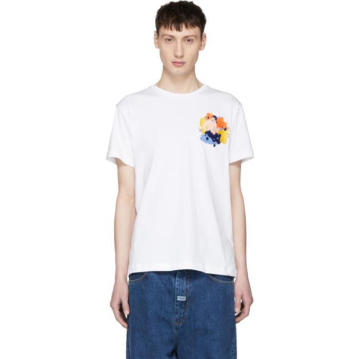 Photo: Carne Bollente White Le Boner Est Dans Le Pré Embrodiered T-Shirt
