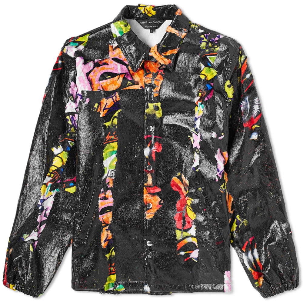 Comme des Garcons Homme Plus Multi Print Collection Logo Coach Jacket