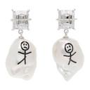 Jiwinaia White Pearl Earthling Earrings