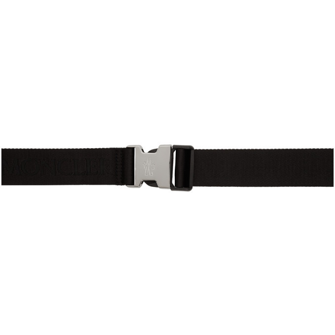 Photo: Moncler Black Logo Belt