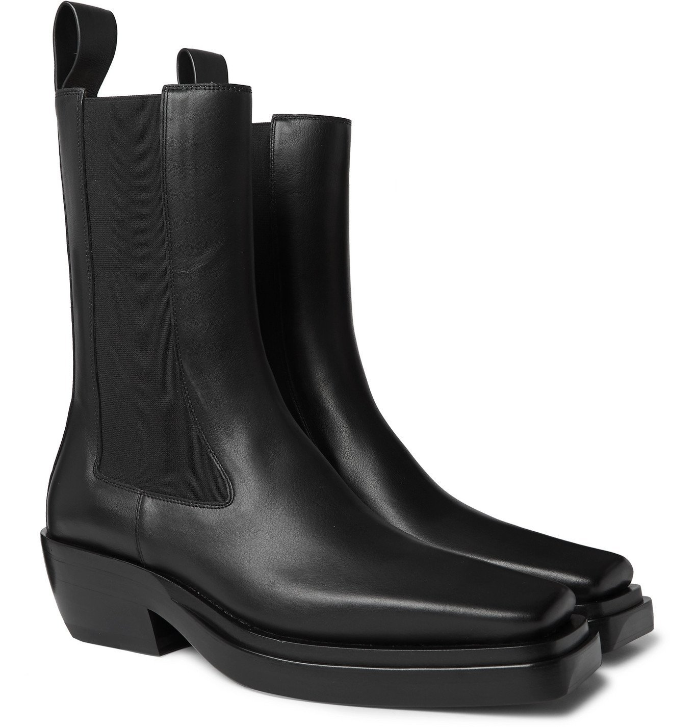Photo: Bottega Veneta - Lean Leather Chelsea Boots - Black