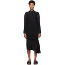 Sacai Black Sponge Sweat Dress