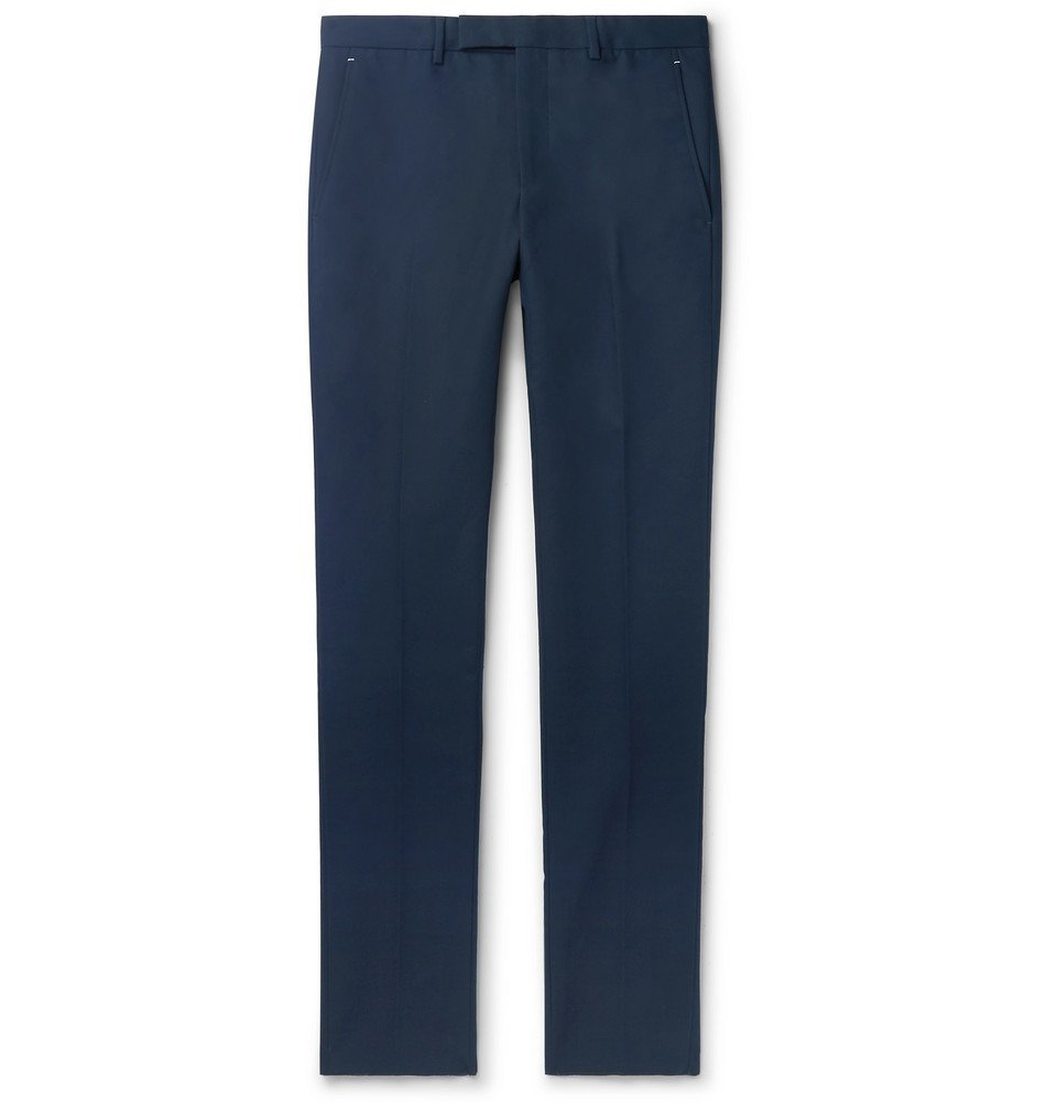 Photo: Berluti - Navy Slim-Fit Tapered Cotton-Twill Chinos - Midnight blue