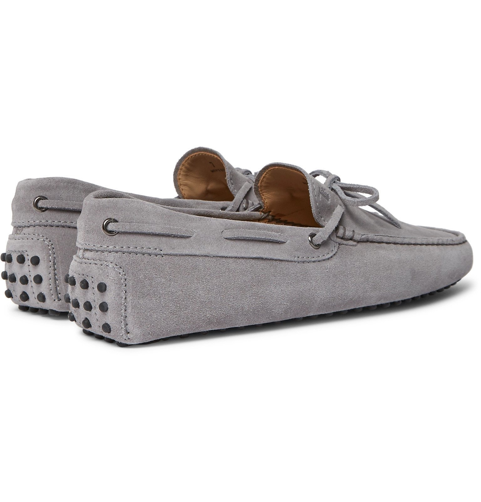 Tod's - Gommino Suede Driving Shoes - Gray