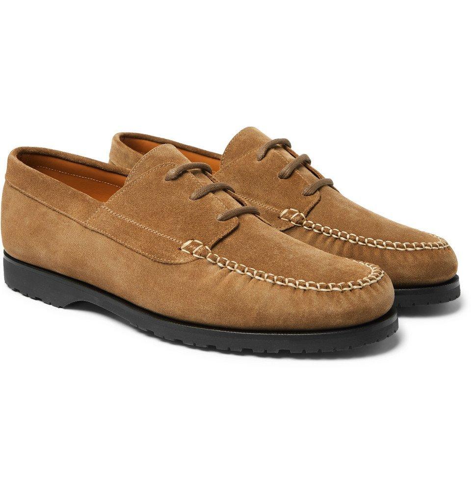 Photo: Mr P. - Dennis Suede Boat Shoes - Tan
