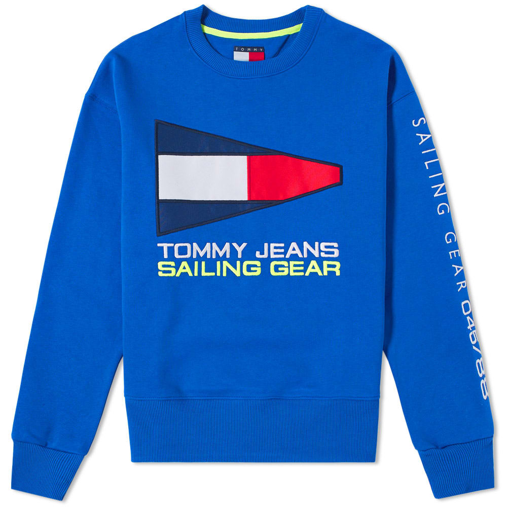 Photo: Tommy Jeans 5.0 90s Sailing Logo Crew Sweat Blue