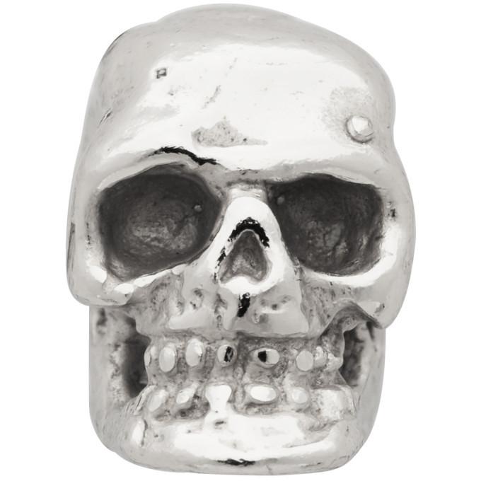 Photo: Emanuele Bicocchi Silver Single Tiny Skull Stud Earring