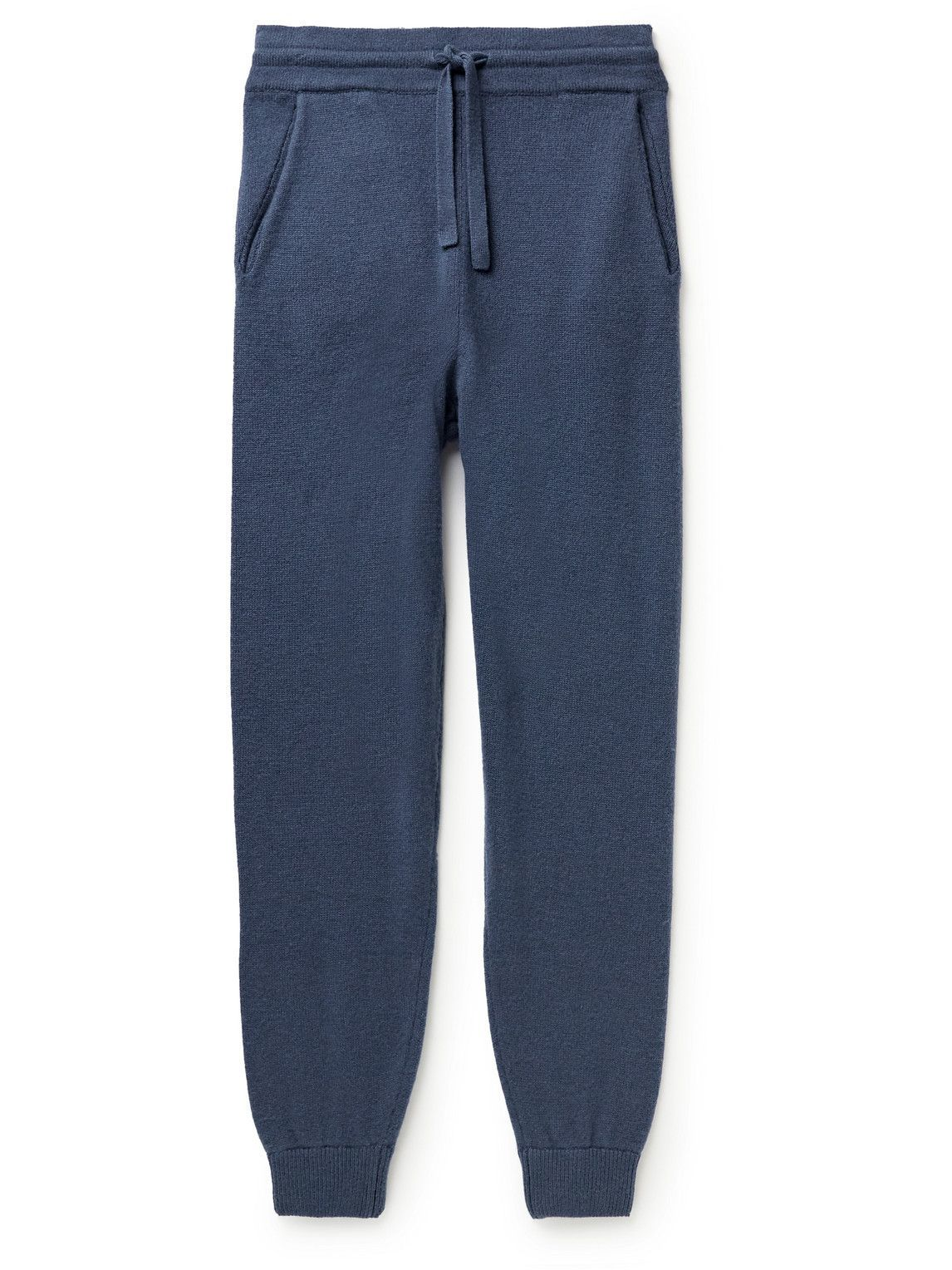 Photo: Altea - Tapered Wool and Cashmere-Blend Sweatpants - Blue