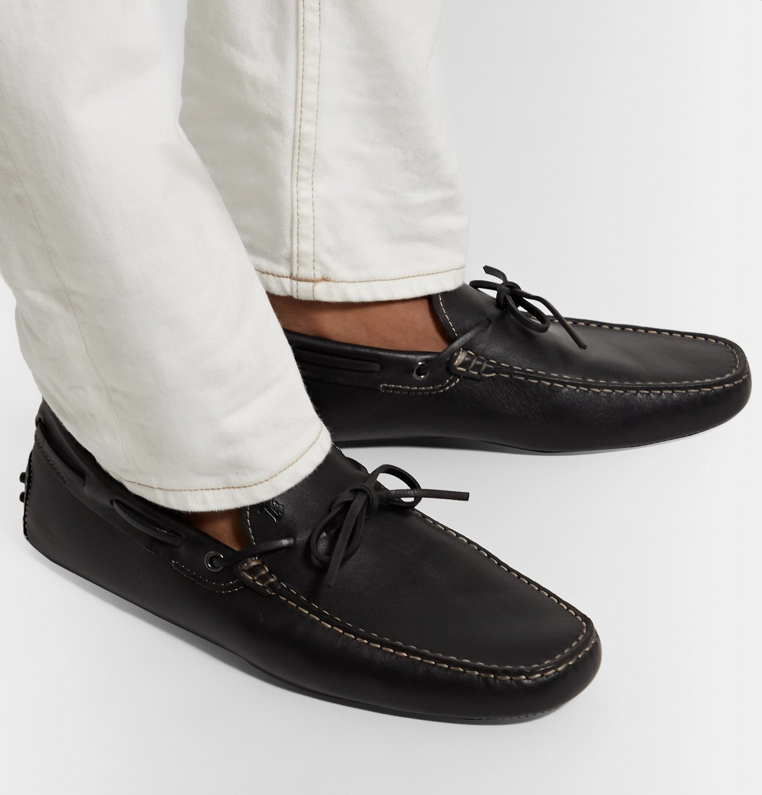 Tod's - Gommino Leather Driving Shoes - Black