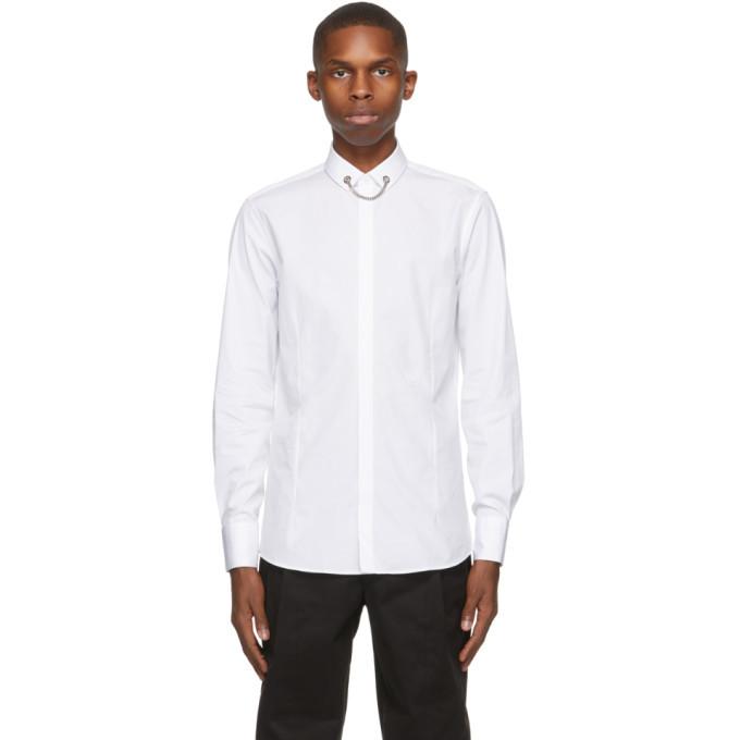Photo: Neil Barrett White Poplin Tuxedo Necklace Shirt