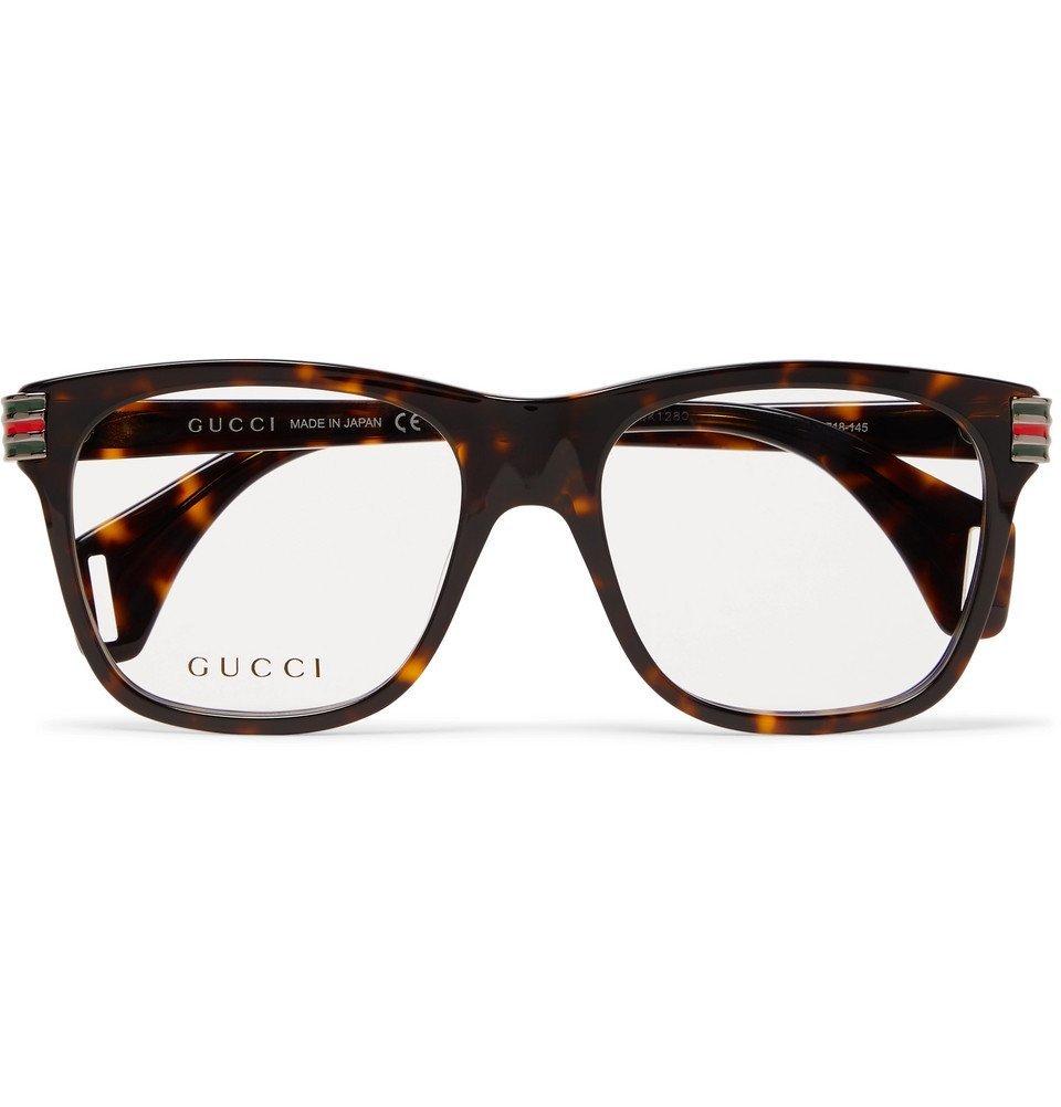 Photo: Gucci - Square-Frame Tortoiseshell Acetate Optical Glasses - Tortoiseshell