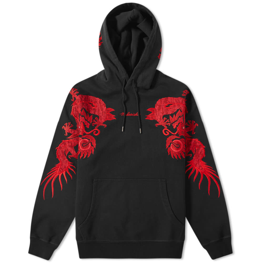 Photo: Maharishi Original Dragon Hooded Sweat Black