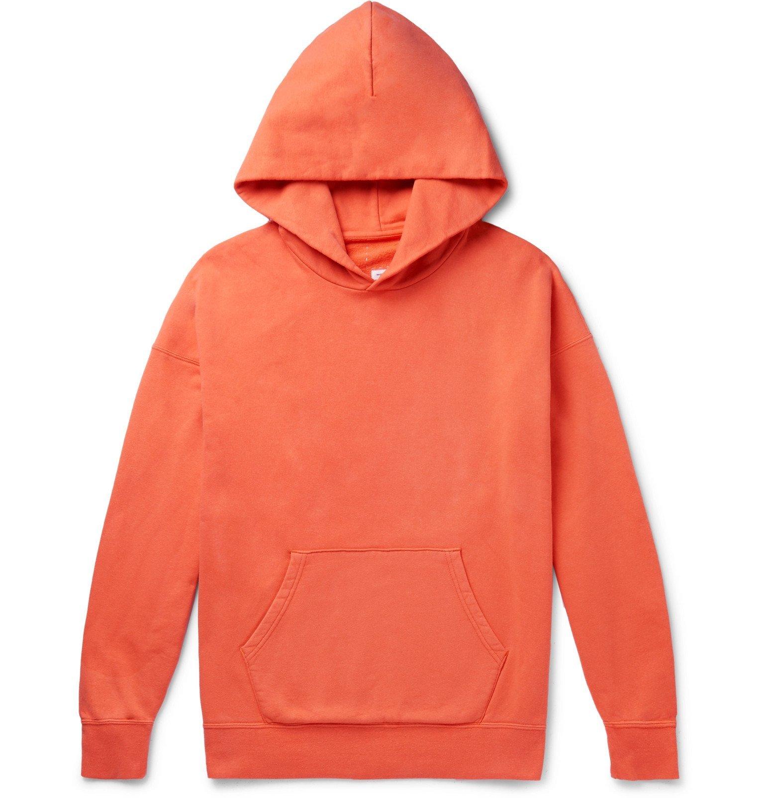 Photo: visvim - Jumbo Loopback Cotton-Jersey Hoodie - Orange