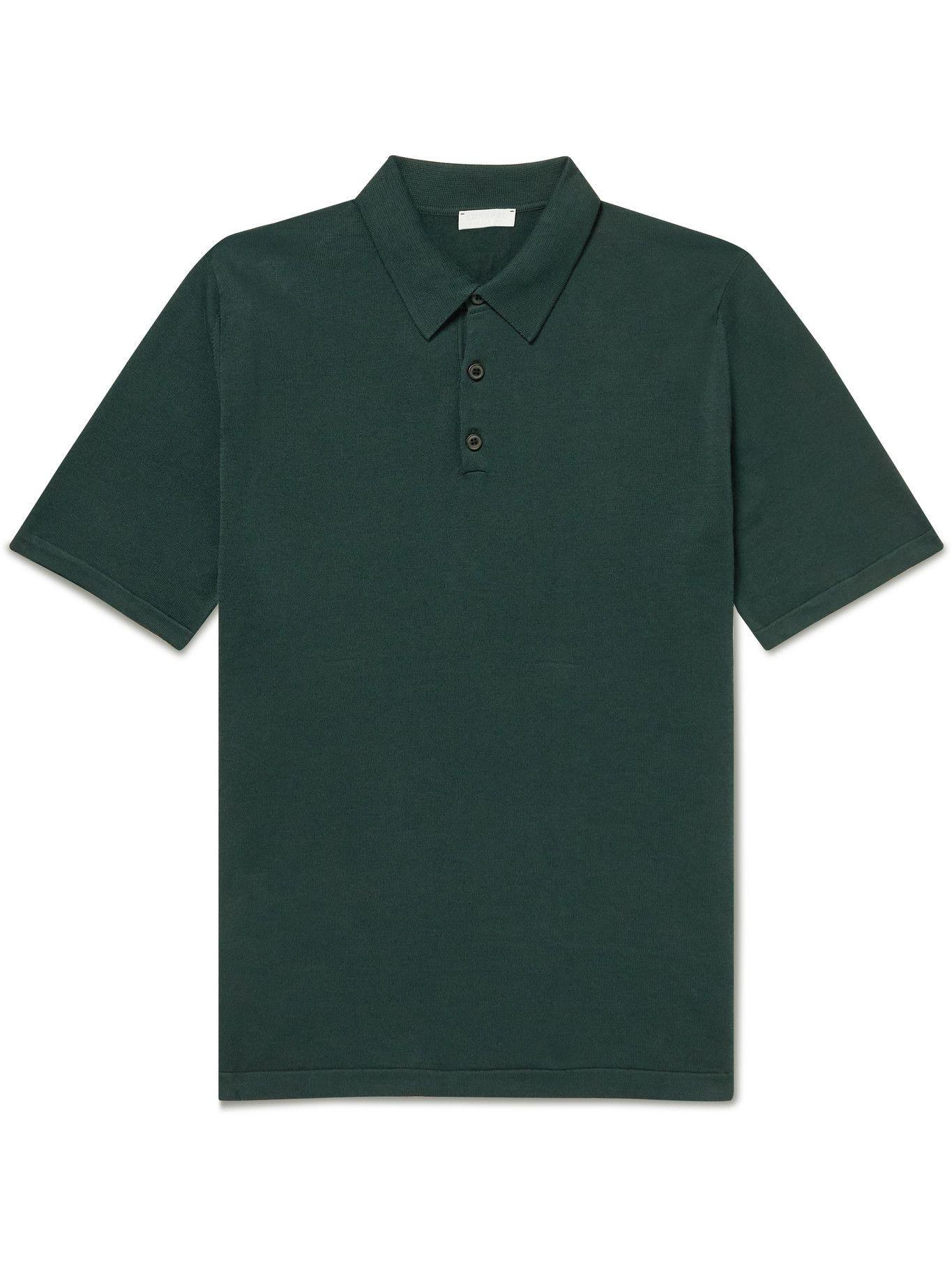 Photo: Sunspel - Slim-Fit Sea Island Cotton Polo Shirt - Green