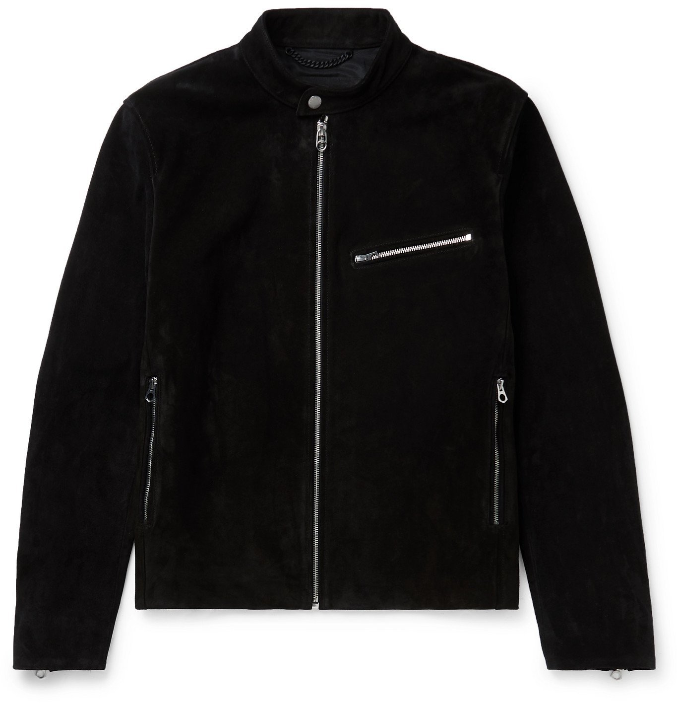 Photo: RAG & BONE - Slim-Fit Suede Biker Jacket - Black