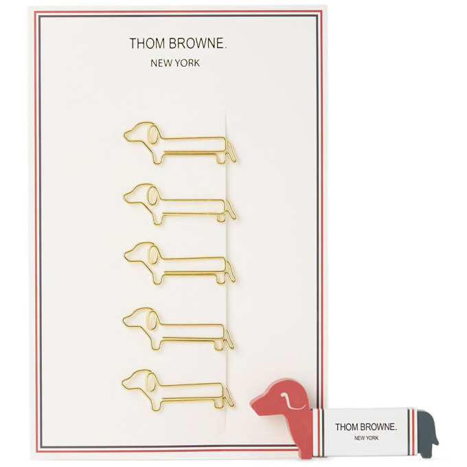 Photo: Thom Browne Multicolor Hector Eraser and Paper Clips