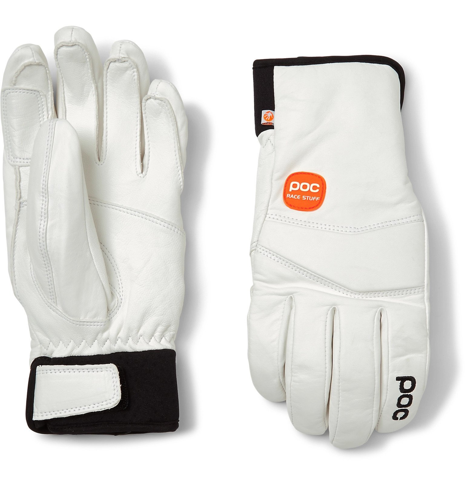Photo: POC - Palm Lite Leather-Panelled Padded Gloves - White