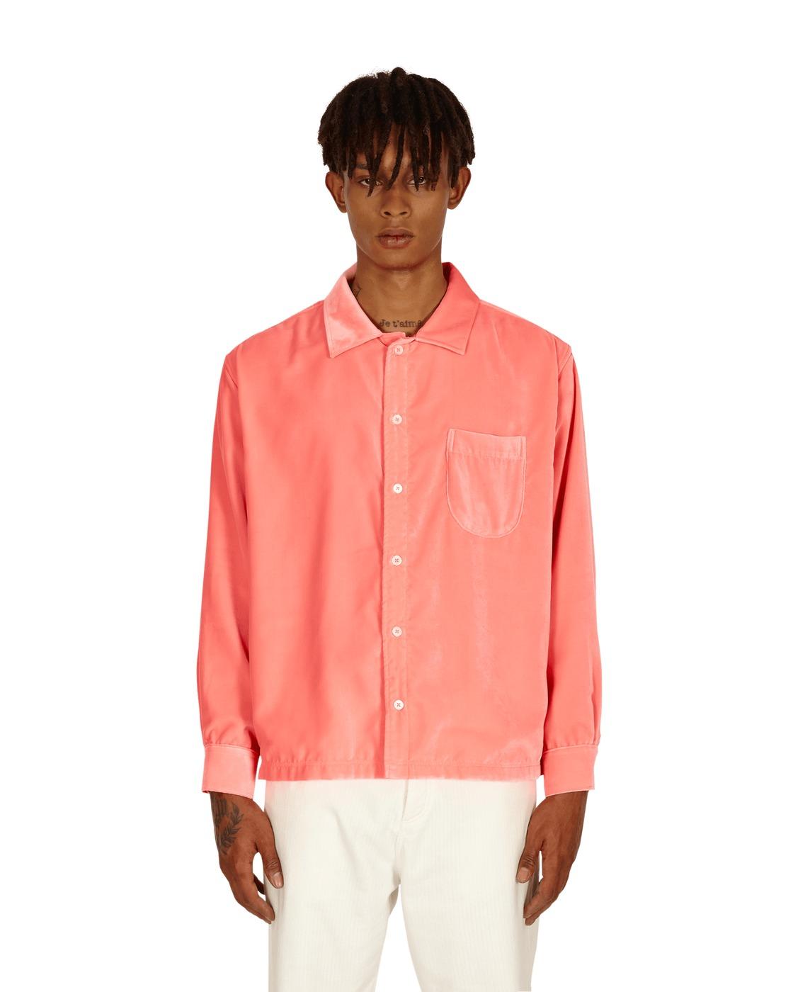 Photo: Erl Velvet Shirt Neon Pink